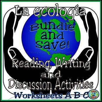 ecology activity worksheets    bundle hojas de