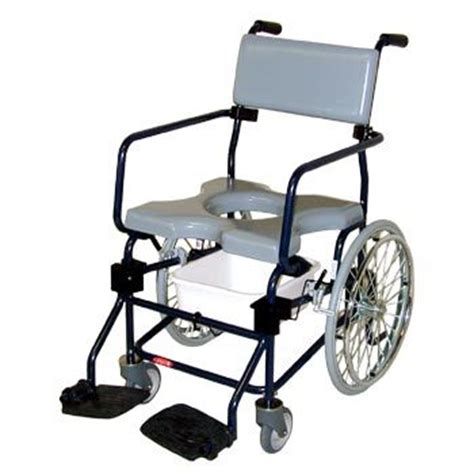 activeaid rehab shower commode chair 20 quot wheels