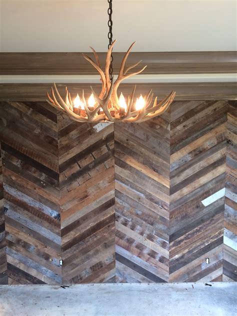chevron wall  reclaimed flooring  good wood