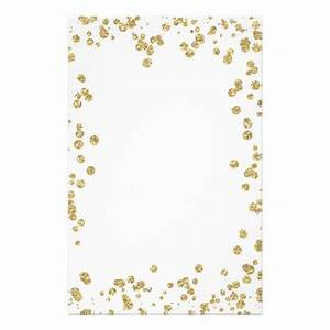 Gold Glitter Stationery | Zazzle