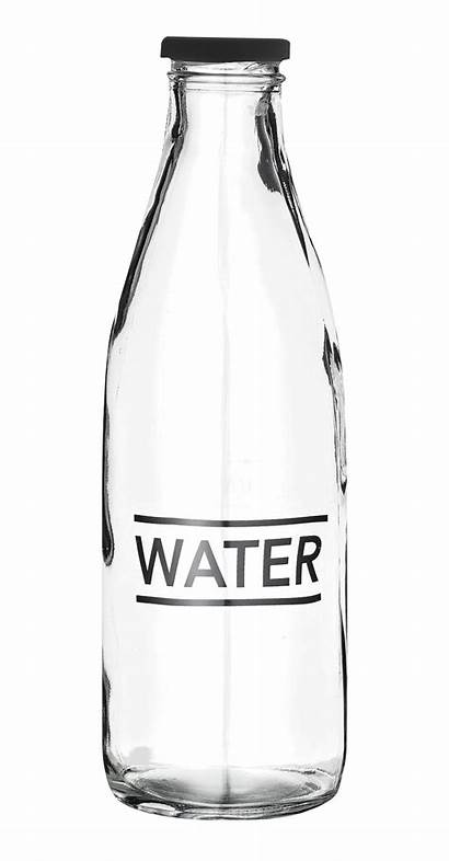 Bottle Empty Transparent Glass Water Clipart Background