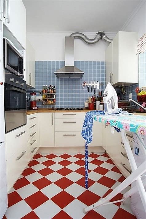 red  white kitchen floor tiles home decorating trends