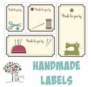 handmade labels the sewing loft39s shop craftfoxes With free printable clothing labels
