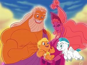 Image - Hercules-Zeus-Hera-Pegasus.jpg | Disney Wiki ...