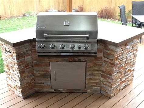 built in countertop grill built in bbq with stacked tile and solid surface