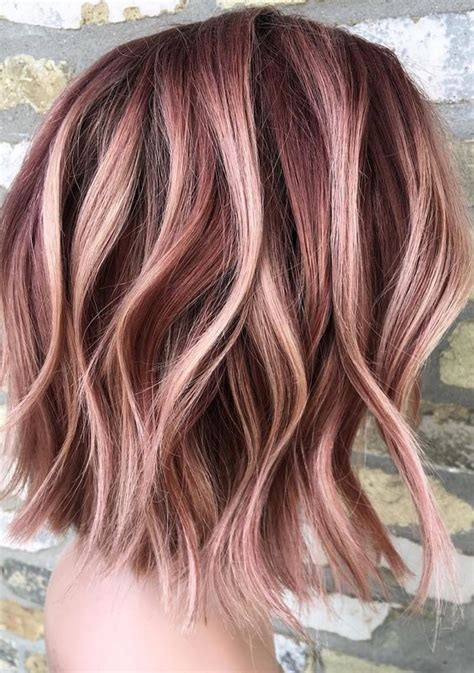 gorgeous rose gold hair color ideas   hairstyles
