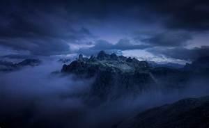 Nature, Photography, Landscape, Mountains, Sunrise, Mist, Clouds, Cliff, Blue, Alps, Wallpapers