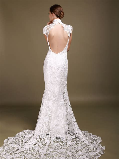 backless wedding dress lace backless wedding dresses dressed up