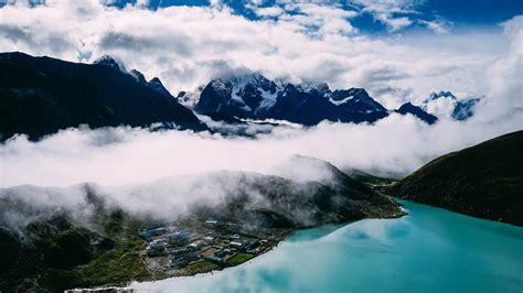 hd hintergrundbilder berge  nebel desktop hintergrund