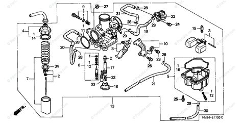 Honda 250sx Wiring Diagram by Honda 185s Carb Jet Diagram And Parts List