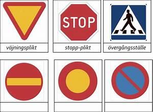 Trafikmärken att färglägga