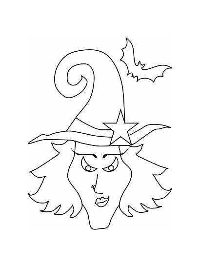 Halloween Coloring Pages Witches Children Fun Ws