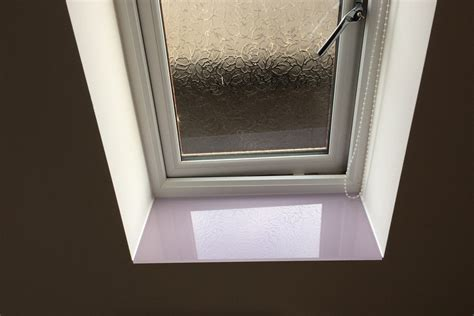 Thin Window Sill by Toughened Bathroom Splashback And Window Sill