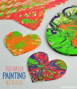 Easy, Toothpick, Painting, With, Kids