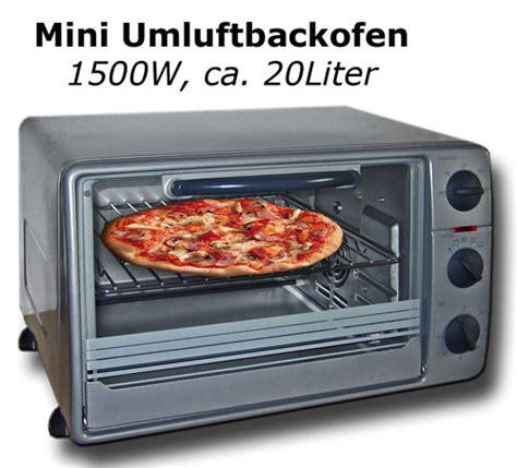 Mini Umluftbackofen 20l 1500w Minibackofen Umluft Backofen