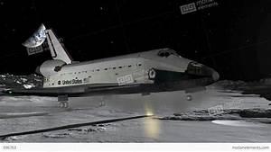 Space Shuttle Moon Landing CGI HD Stock Animation | 996763