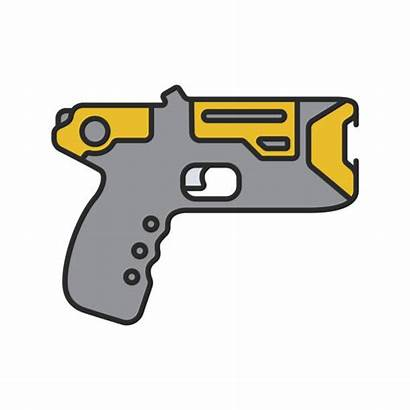 Gun Stun Clip Vector Taser Icon Illustrations