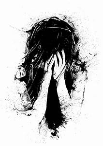 Sometimes Life Is Unfair, Black And White Art, Sad Girl ...