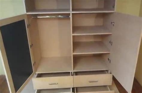 como hacer  ropero  closet de mdf facil bricolaje
