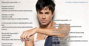 Lyrics Wallpapers Enrique Iglesias Ring My Bells
