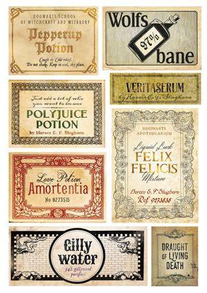 potion labels harry potter potions harry potter potion