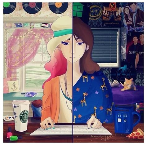 hipster vs fangirl on tumblr what one is ur room