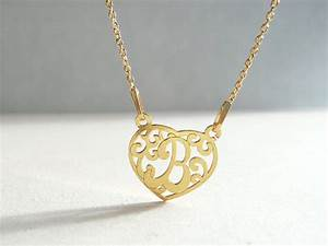 b heart pendant necklace letter charm necklace b initial b With letter b necklace