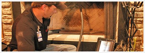 atlanta chimney sweep performs video chimney inspection