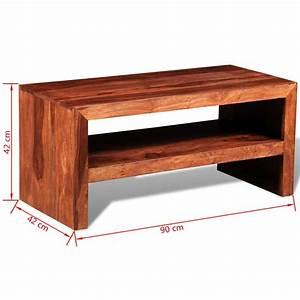 Table Pour Tv : acheter table d 39 appoint pour tv en bois de sheesham solide ~ Teatrodelosmanantiales.com Idées de Décoration