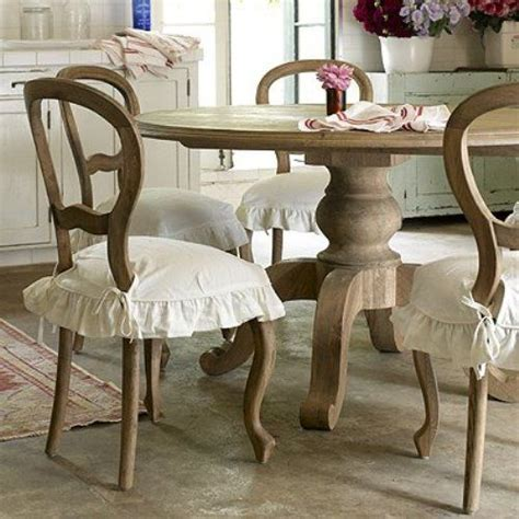 shabby chic dining chair slipcovers shabby chic dining room idea 2 minus the ruffly chair