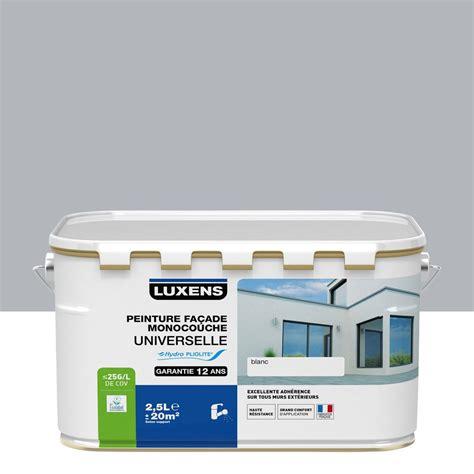 peinture de facade exterieur prix peinture fa 231 ade universelle luxens gris cendr 233 2 5 l leroy merlin