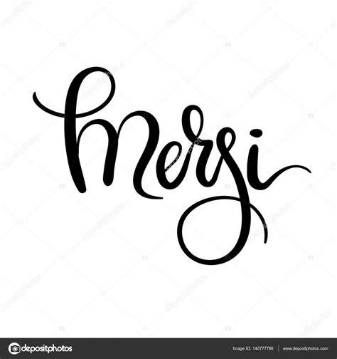 hand lettering merci    french modern