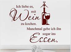Wandtattoo Ich liebe es mit Wein zu kochen bei