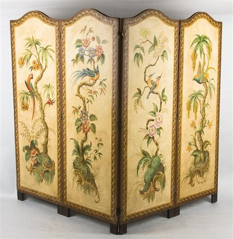 dressing folding screen baroque folding screen 18th century pinter auctions