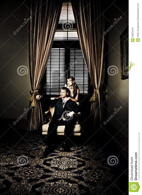 wealthy young couple stock  image