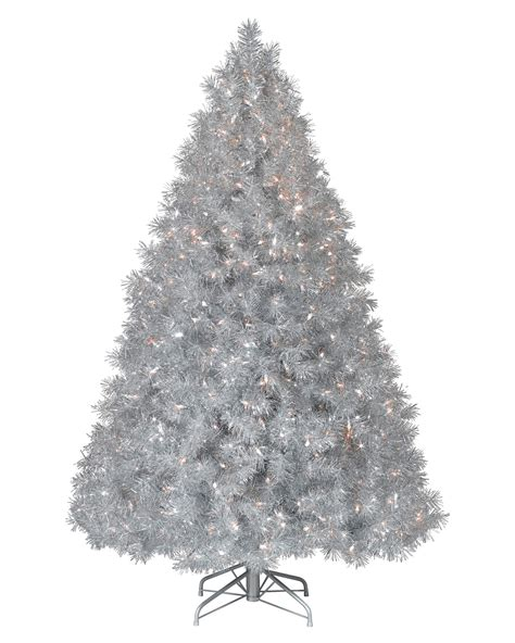 christmas tree and silver silver stardust tinsel artificial christmas tree treetopia