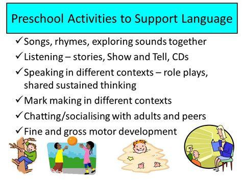 communication language amp literacy ppt 656 | Preschool Activities to Support Language