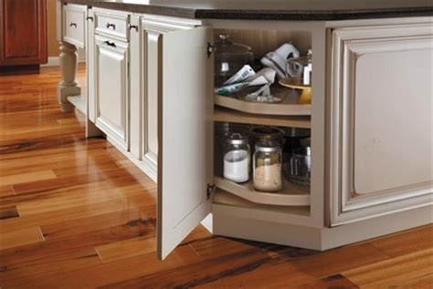 lazy susan for corner kitchen cabinet starmark cabinetry diagonal corner lazy susan with wood 9680