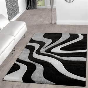 wohnzimmer grau creme teppich schwarz weiß grau wohnzimmer teppiche modern mit konturenschnitt moderne teppiche