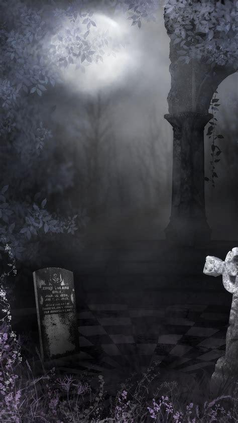 gothic cemetery wallpaper