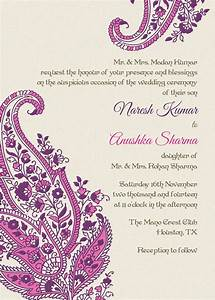 indian wedding invitation pink paisley motifs idea or With wedding invitation motifs free