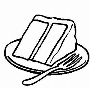 Slice Of Cake Clipart Black And White | Clipart Panda ...