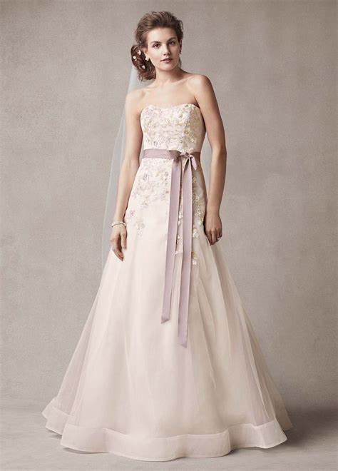 melissa sweet strapless   wedding dress