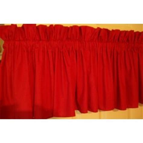 amazon com red valance 86 home kitchen