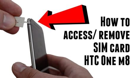 The sim card slot will pop up. How to access and remove SIM card on the HTC One M8 - Bane Tech