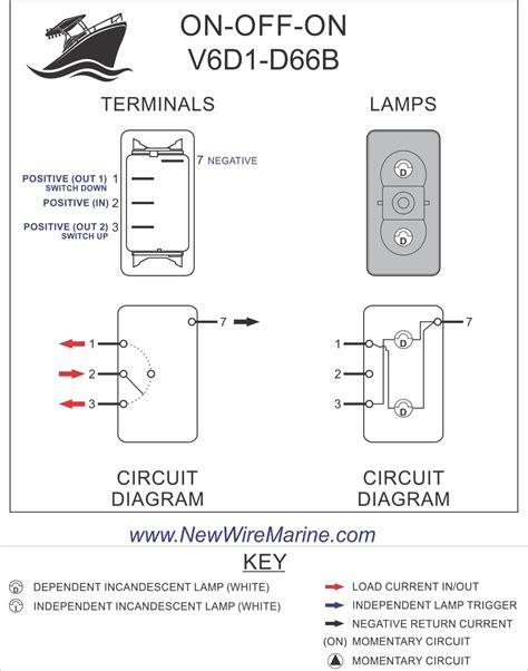 bilge automan rocker switch carling contura ii illuminated accessory
