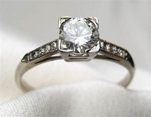 vintage engagement ring With blood diamond wedding rings
