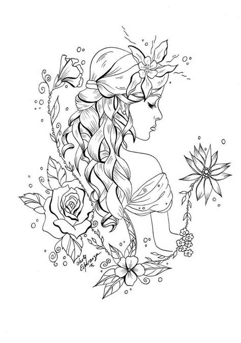 Braids of Beauty | Fairy coloring pages, Fairy coloring