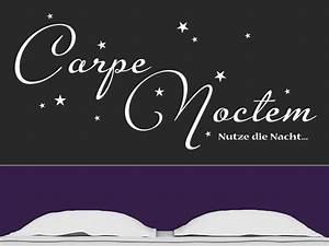 Wandtattoo Carpe Noctem : wandtattoo carpe noctem mit sternen ~ Sanjose-hotels-ca.com Haus und Dekorationen