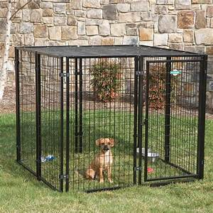 Backyard dog kennel haotian hardware wire mesh products co for Puppy dog kennels
